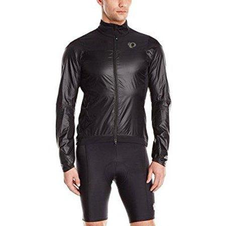 pearl izumi men's pro barrier lite jacket, black/black,