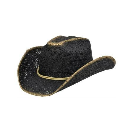 Alamo - Alamo Cowboy Hat Twisted Toyo Viveza S M Black Gold 06600 ... f3405c67b26