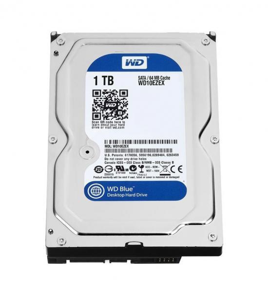 1TB Western Digital Blue 3.5-inch SATA III 6Gb/s desktop hard drive (7200rpm, 64MB cache)