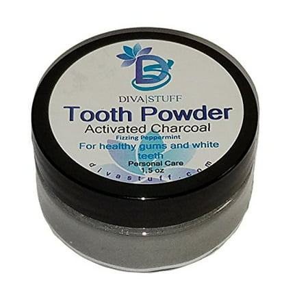 Superior Tooth Powder For Whiter and Healthier Teeth and Gums, With Activated Charcoal, By Diva