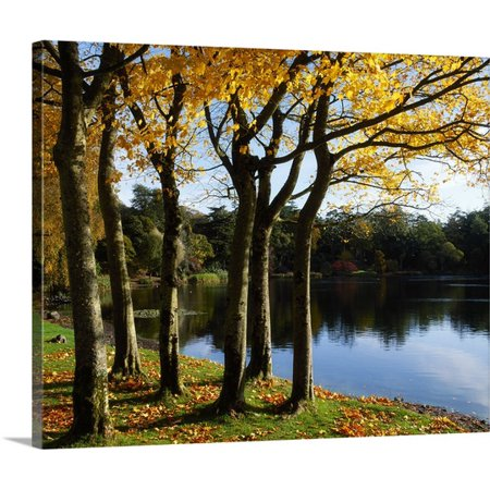(Great BIG Canvas | The Irish Image Collection Premium Thick-Wrap Canvas entitled Lake And Trees, Mount Stewart, County Down, Ireland)