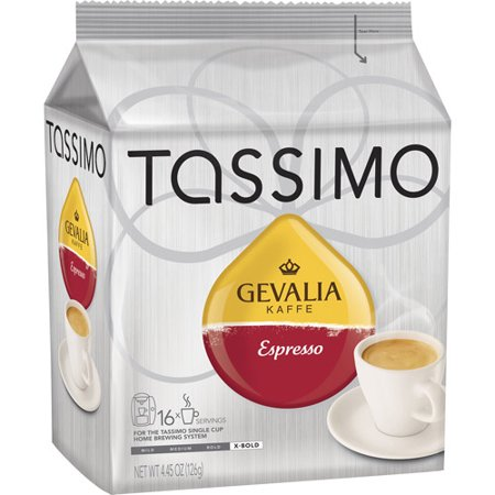 tassimo t discs gevalia espresso coffee t disc pods case of 5 packages 80 t discs total. Black Bedroom Furniture Sets. Home Design Ideas
