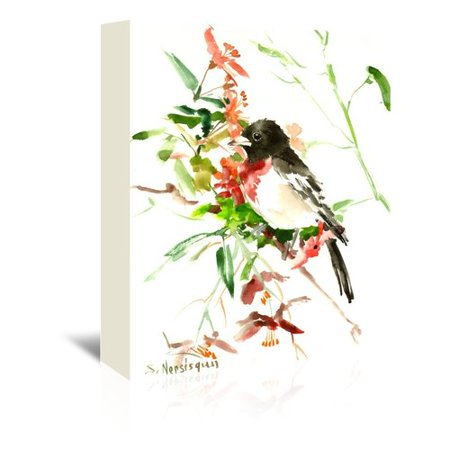 Alcott Hill Rose Breasted Grosbeak Painting Print On Wrapped Canvas