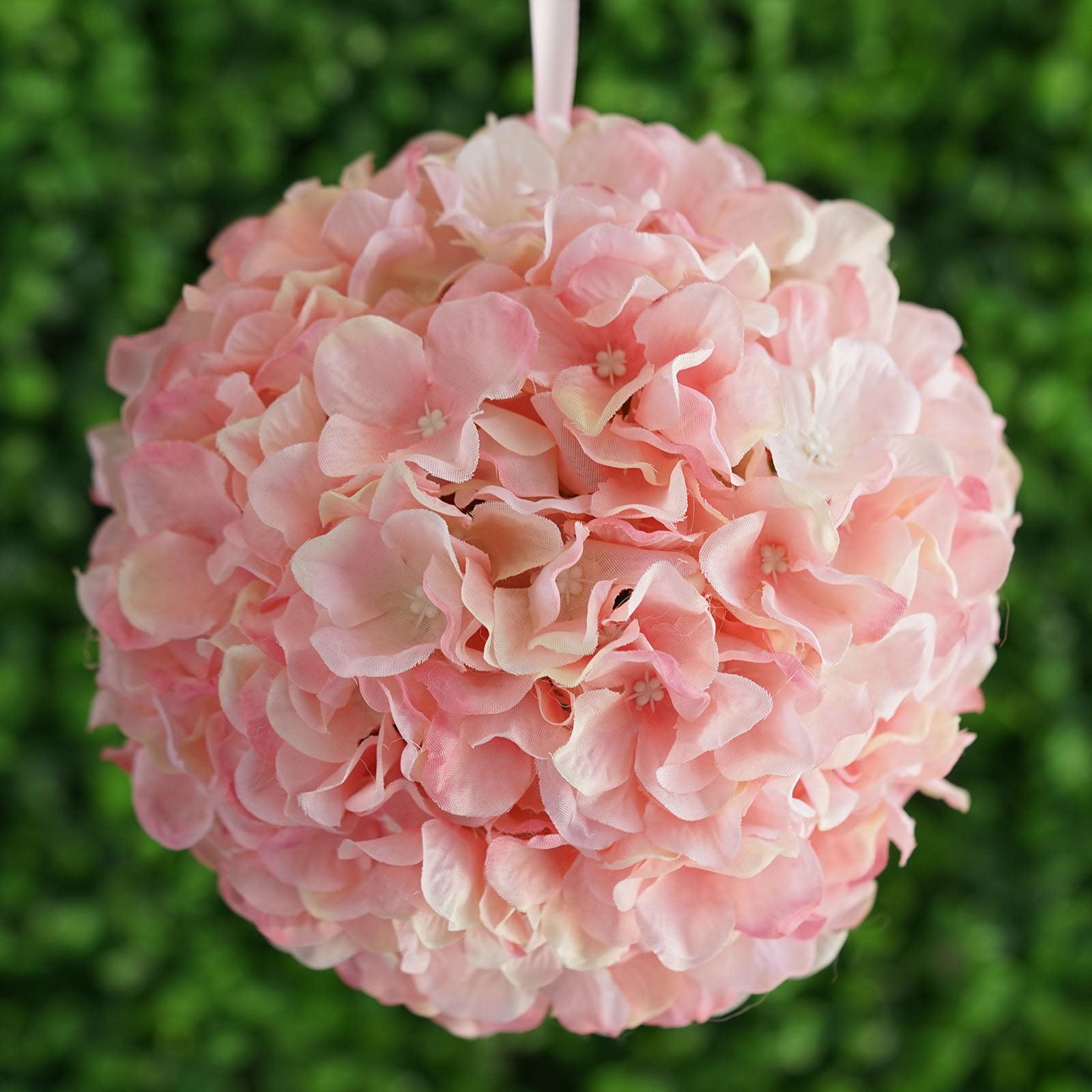 BalsaCircle 4 pcs 7-Inch Hydrangea Kissing Flower Balls - Artificial ...