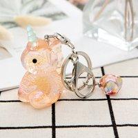 AkoaDa Fashion New Creative Unicorn Pendants Keychain Women Jewelry Acrylic Pendant Key Chain Car Handbag Accessories Keyrings