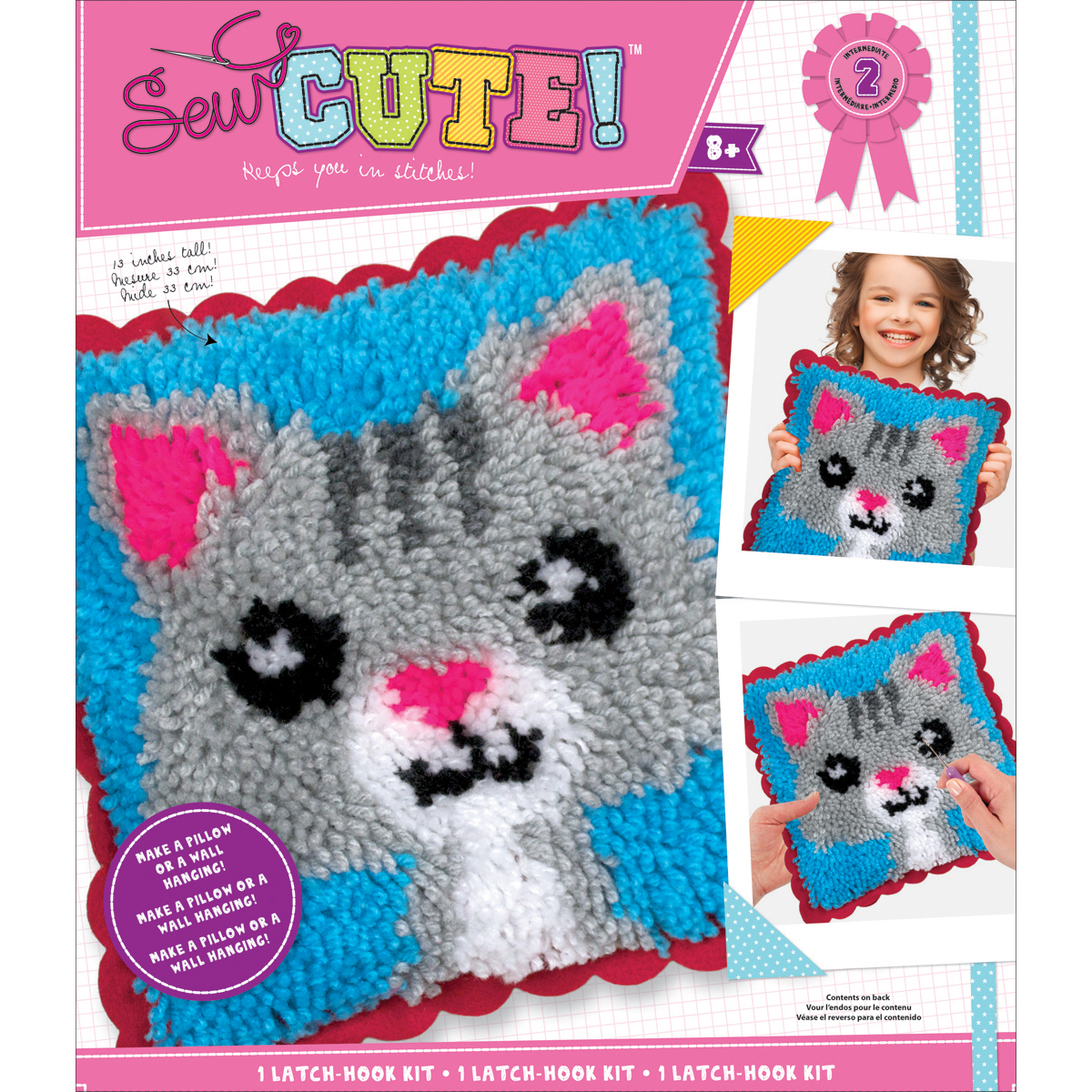 Sew Cute! Latch Hook Kit-Cat