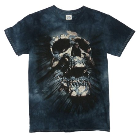 Blue Peter Halloween Ideas (Halloween Mens Blue Breakthrough Skull Graphic T-Shirt)