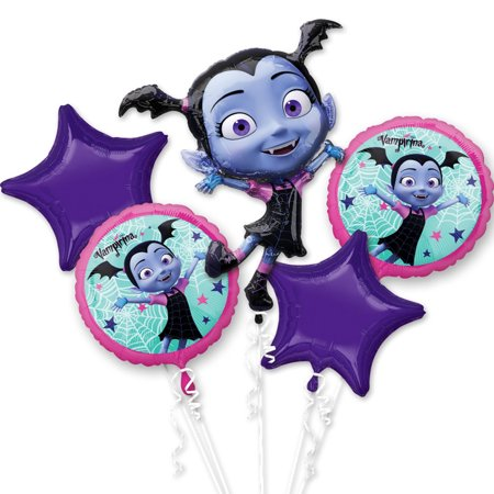 Balloon Tower Defence 5 Halloween (Vampirina Balloon Bouquet ( 5 pcs)