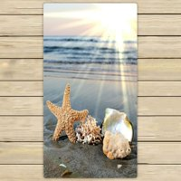 ZKGK Starfish Sea Ocean Waves Hand Towel Bath Towels Beach Towel For Home Outdoor Travel Use Size 30x56 Inches