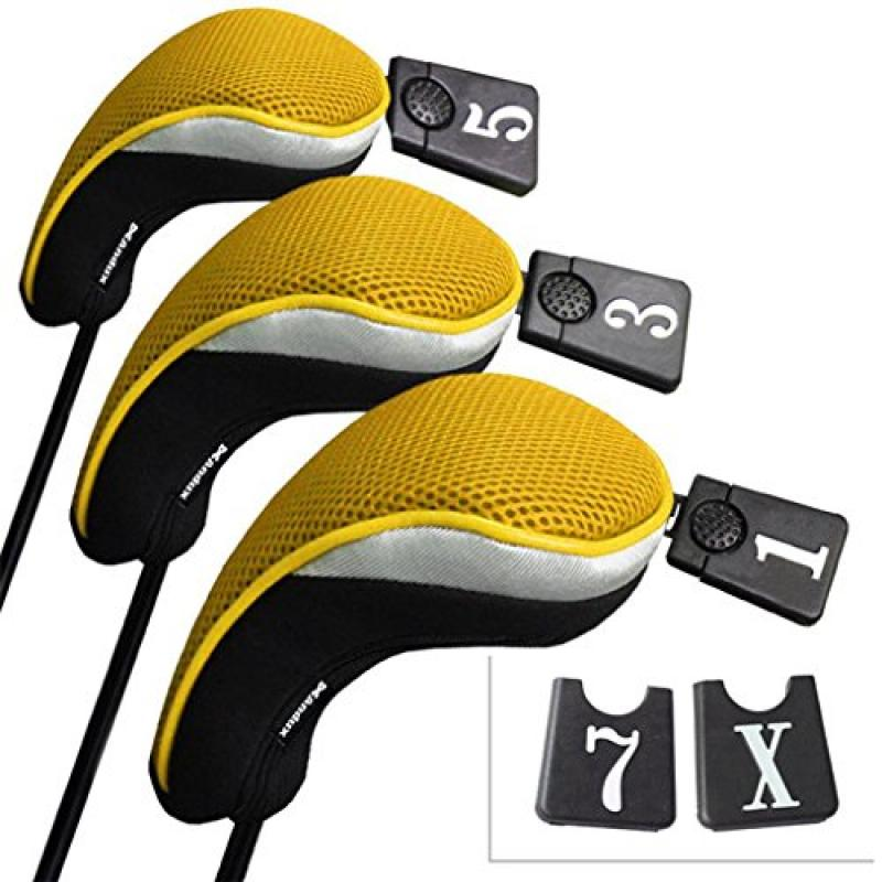 Andux Golf Driver Wood Head Covers Interchangeable No. Ta...