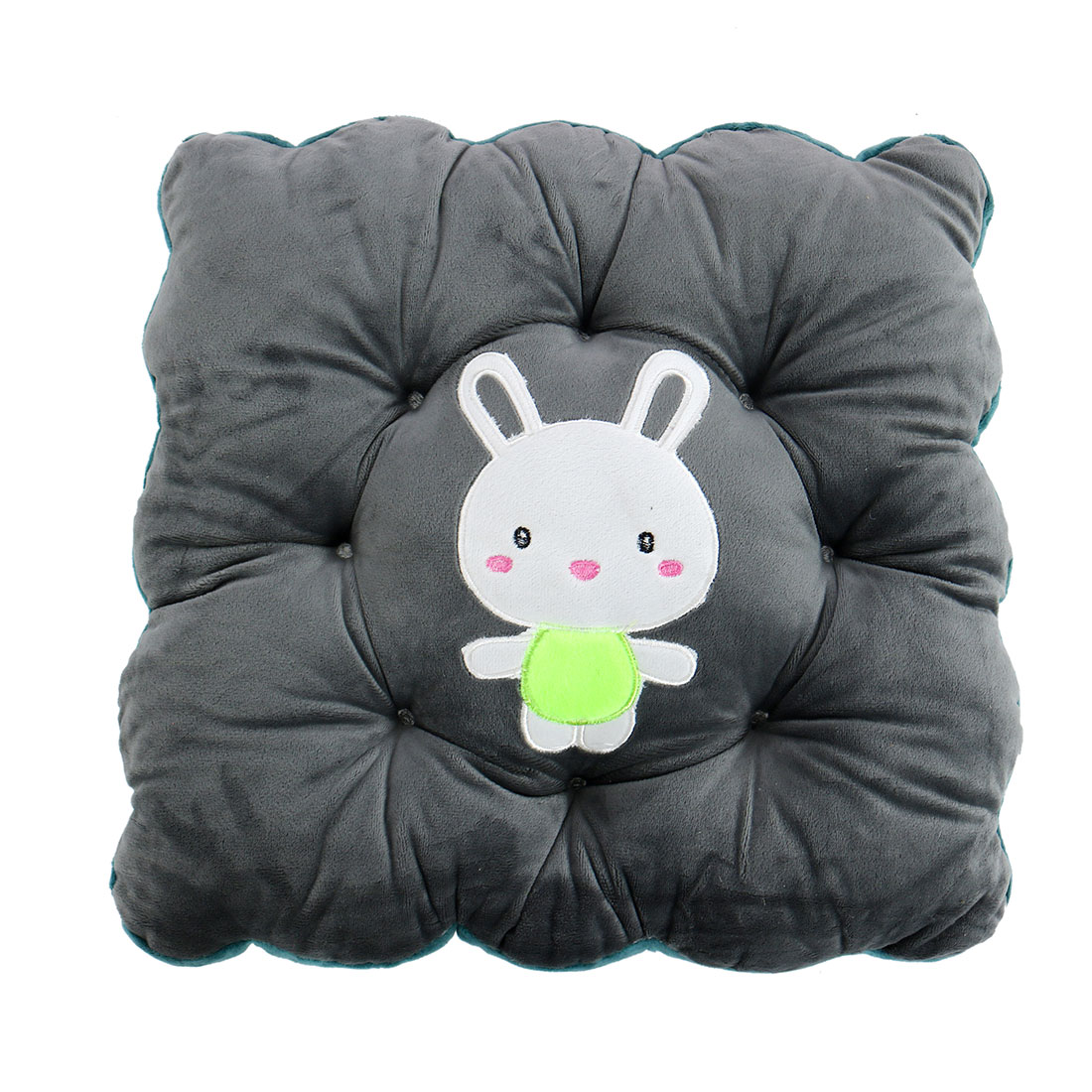 Unique Bargains Household Polyester Rabbit Pattern Back Protect Chair Car  Pad Cushion Gray