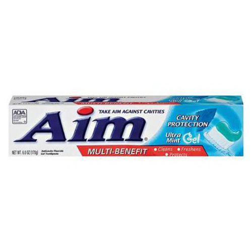Aim Cavity Protection Anticavity Toothpaste, Mint Gel - 6 Oz