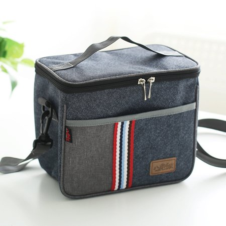 Meigar Lunch Box Bag Tote Hot Cold Insulated Thermal Cooler Fashionable For Work School Travel