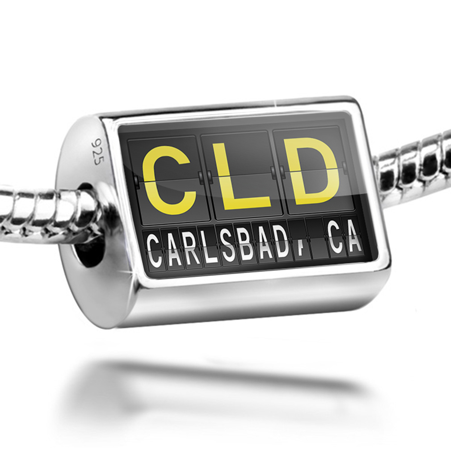 Bead CLD Airport Code for Carlsbad, CA Charm Fits All European Bracelets