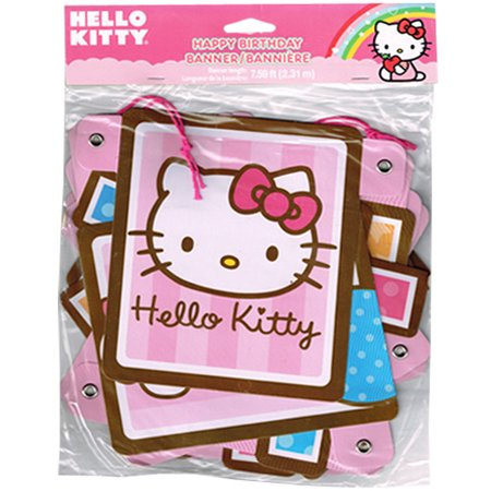 Hello Kitty 'Balloon Dream' Happy Birthday Banner (1ct) for $<!---->