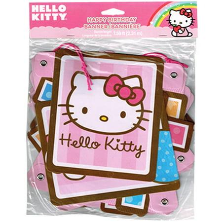 Birthday Kitty (Hello Kitty 'Balloon Dream' Happy Birthday Banner (1ct) )