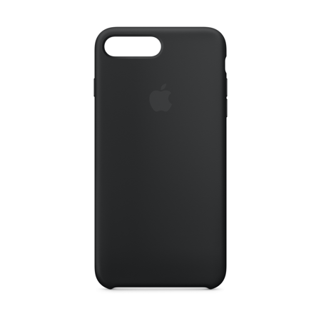 Apple Silicone Case for iPhone 8 Plus & iPhone 7 Plus - Black