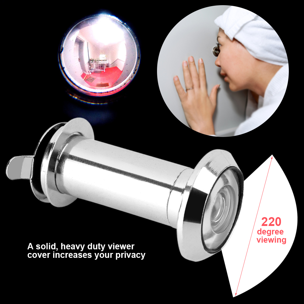 Dilwe 220 Degree Wide Viewing Angle Peephole Door Viewer With Heavy Duty  Privacy Cover, 220