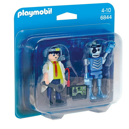 Scientist & Robot Duo Pack - Imaginative Play Set by Playmobil (6844) Duo Set Voice Tube