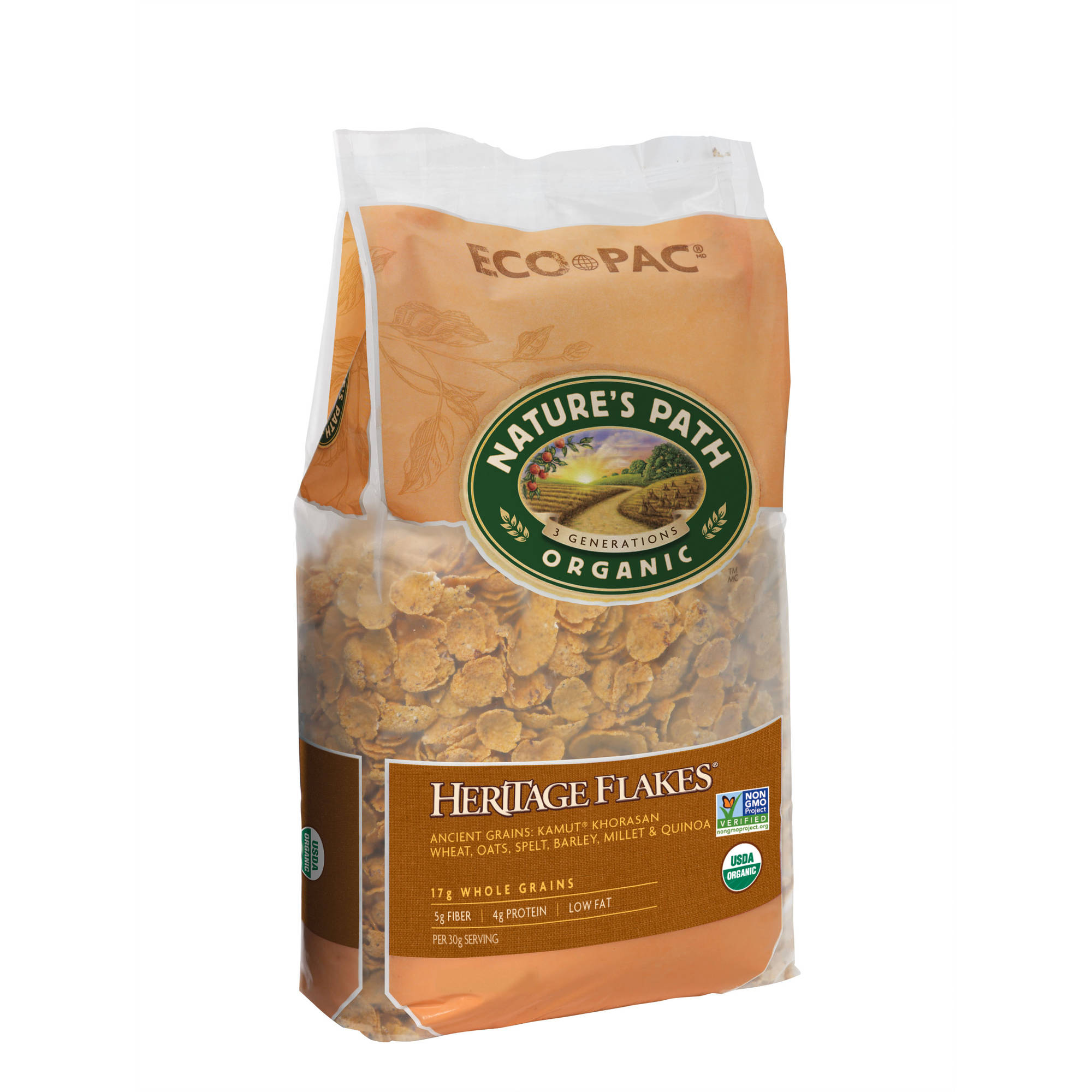 Nature's Path Organic Cereal, Heritage Flakes, Whole Grains, Ancient Grains 32 oz