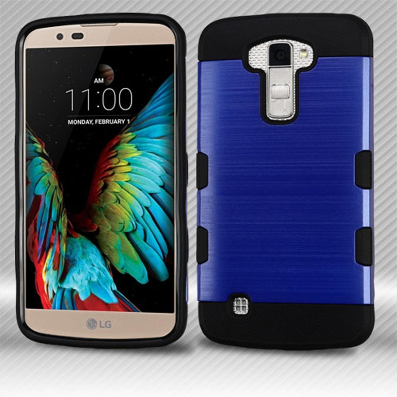 Insten hard tpu case for lg k10 premier lte blue black walmart