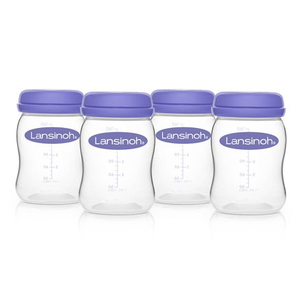 Lansinoh Breastmilk Storage Bottles, 4 count
