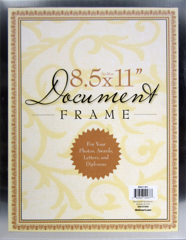 Metal Document 8.5x11 Frame, Silver - Walmart.com