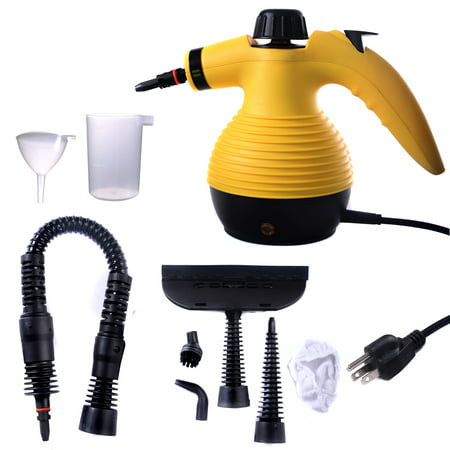 Jaxpety Handheld Steam Cleaner Multipurpose Chemical Free with 9 Free Accessories for Curtains
