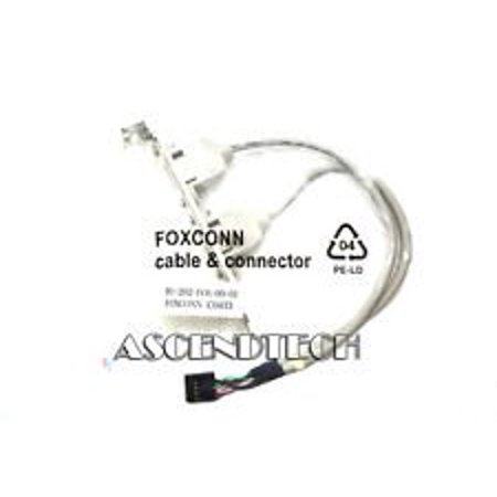 FOXCONN 2B PORT TO 9 PIN CABLE W/CONNECTOR BRACKET 91.202