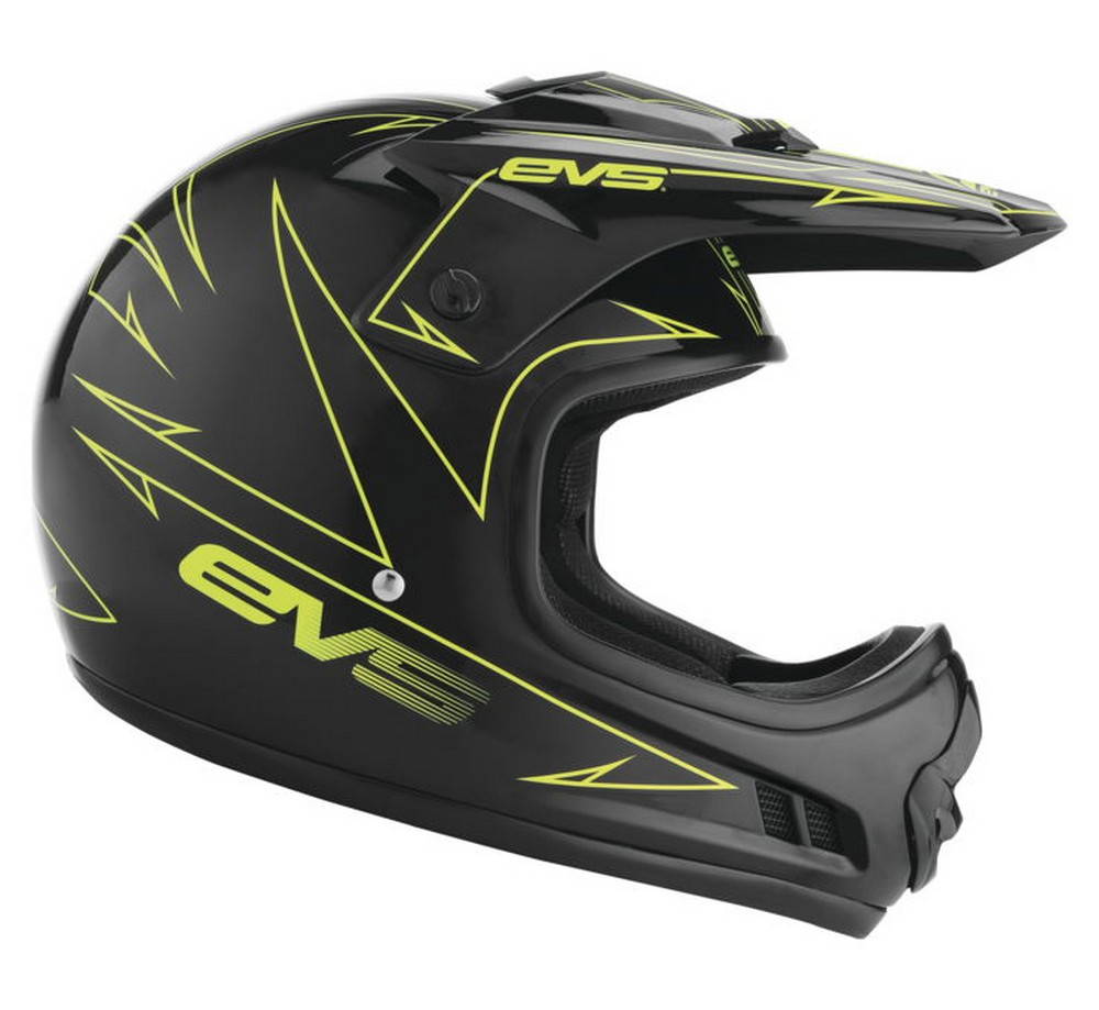 EVS T3 Pinner Youth MX Offroad Helmet Black/Hi-Vis