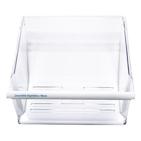2188664 Clear Crisper Pan Drawer Compatible with Whirlpool Refrigerator
