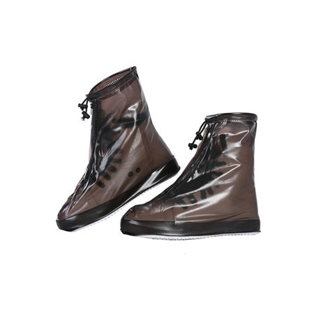 SHOEGIRLS Women Waterproof Shoe Covers Slip-Resistant Reusable Overshoes, Brown, M