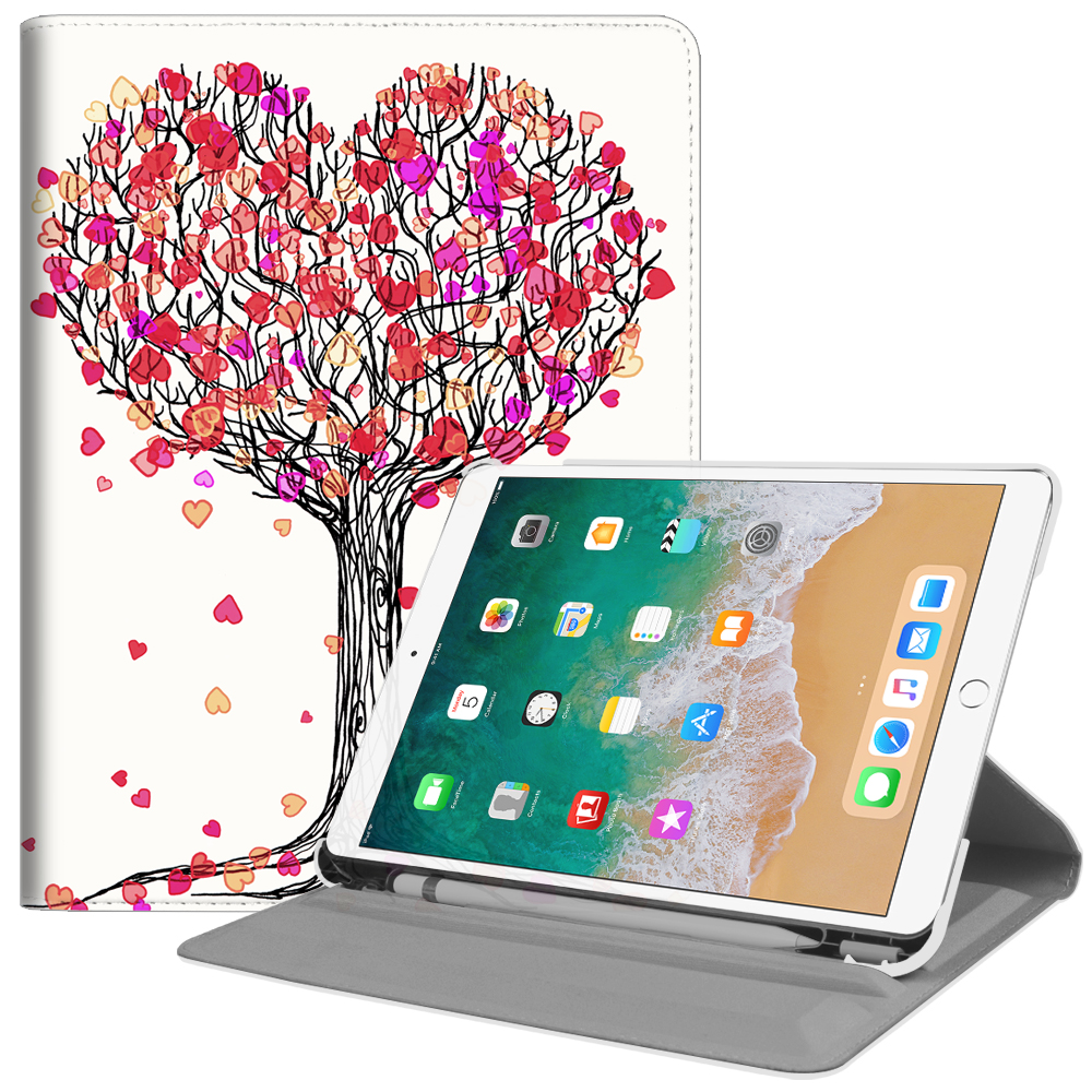 Fintie iPad Pro 10.5 Rotating Case - [Built-in Apple Pencil Holder] 360 Degree Rotating Stand Cover, Autumn Love