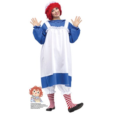Adult Halloween Homemade Costumes (Womens Raggedy Ann Plus Size Halloween Costume sz)