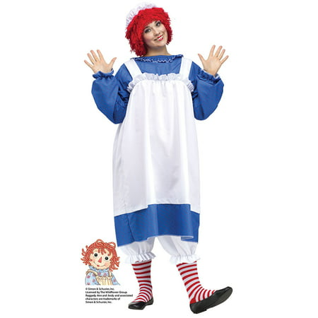 Womens Raggedy Ann Plus Size Halloween Costume sz 16W-24W - Halloween Costumes Johnny Depp