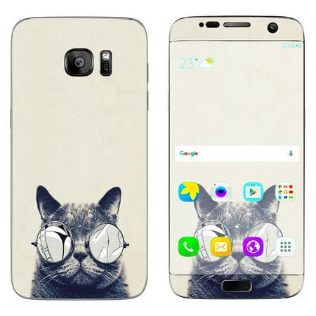 Skin Decal For Samsung Galaxy S7 Edge / Cool Cat Kat Shades Glasses Tumblr](Cool Halloween Ideas Tumblr)