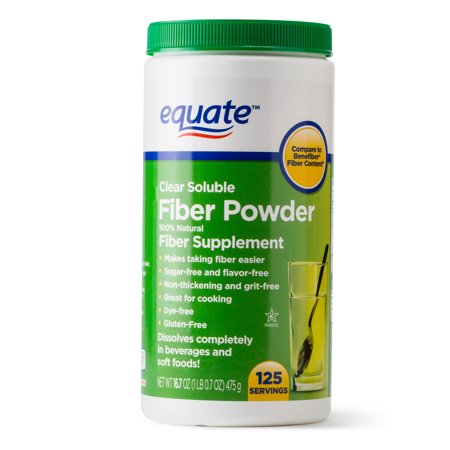 Equate Sugar Free Fiber Supplement Powder, 125 Ct, 16.7 Oz