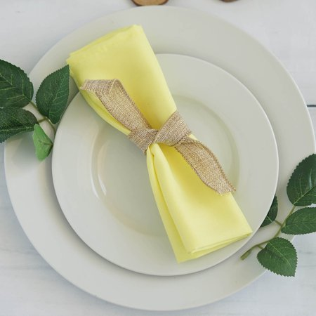 BalsaCircle 5 pcs 17 inch Polyester Fabric Napkins - Wedding Party Events Restaurant Dinner Kitchen Home (Best Fabric For Napkins)