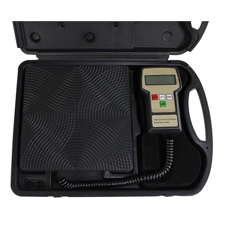 Gizmo Supply Digital Refrigerant Electronic Charging Scale Meters 220 lbs for HVAC with Case