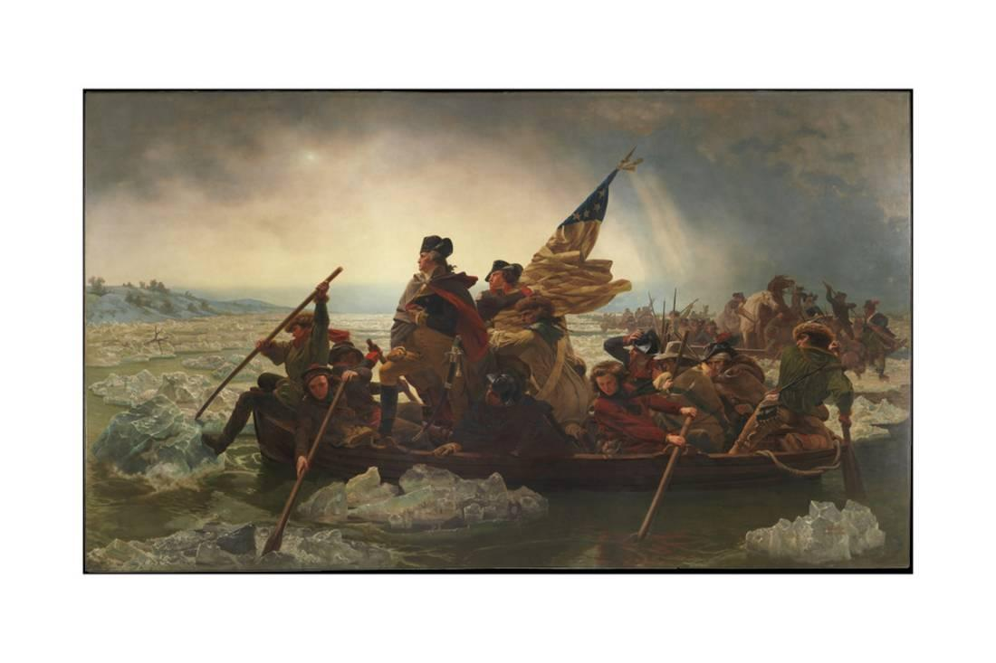 Washington Crossing The Delaware 1851 Print Wall Art By Emanuel