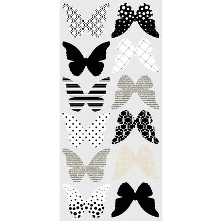 3d butterflies peel and stick wall decals for Peel and stick wallpaper walmart