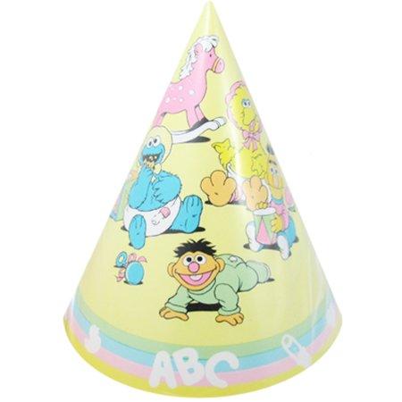Sesame Street Vintage Pastel Cone Hats (8ct) (Street Cones)