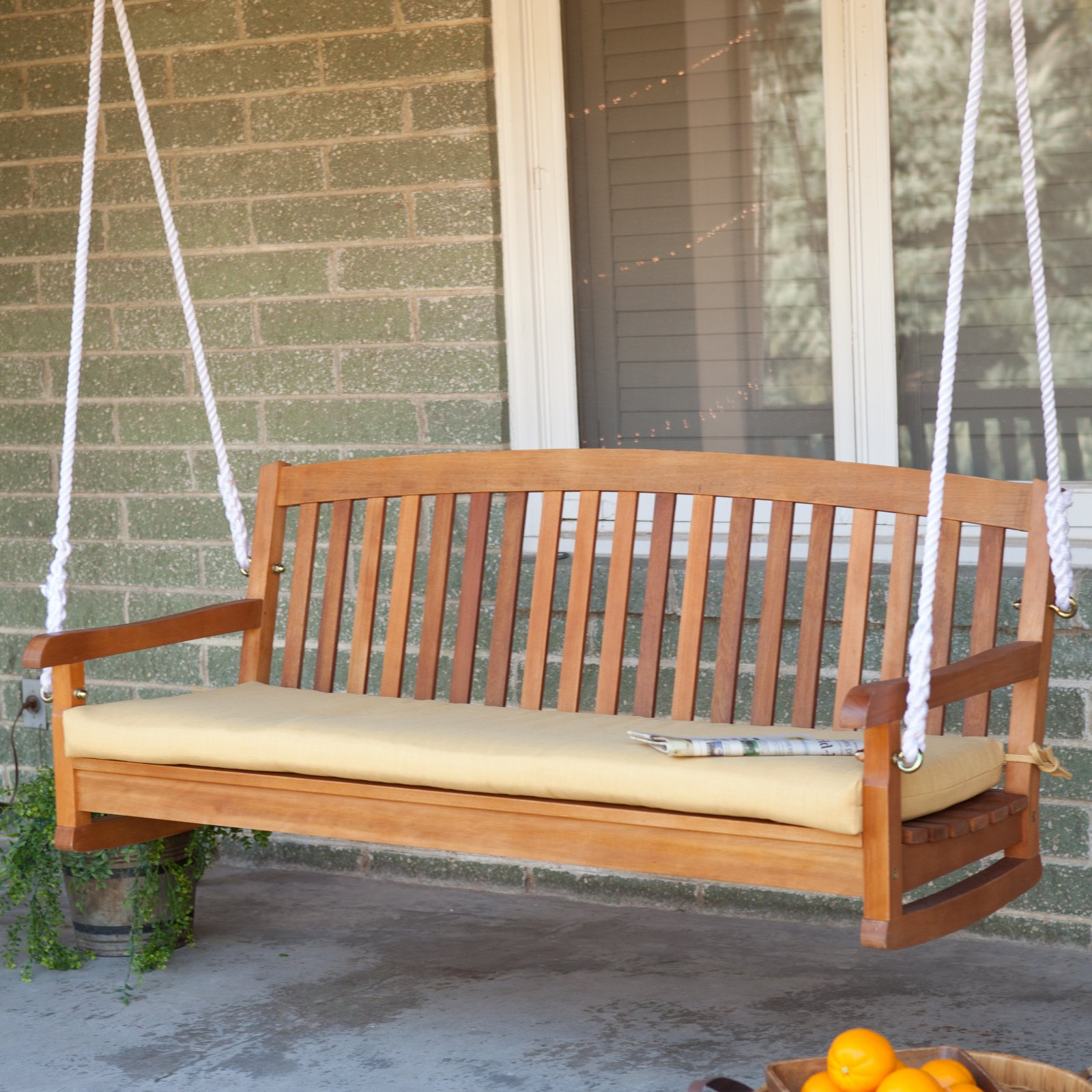 Blazing Needles 57 x 19 in. Outdoor Standard Patio Bench Cushion