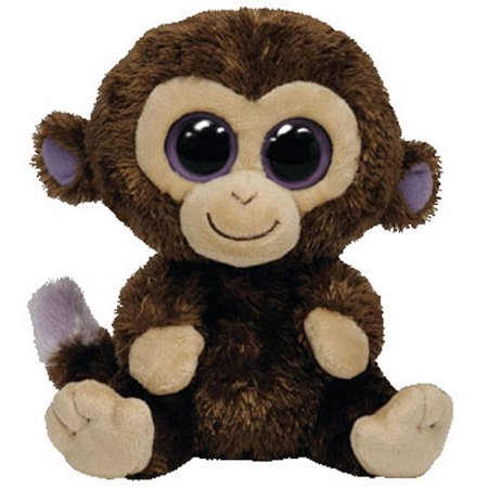 TY Beanie Boos - COCONUT the Monkey (Solid Eye Color) (Regular Size - 6 inch) - Beanie Boo Coconut