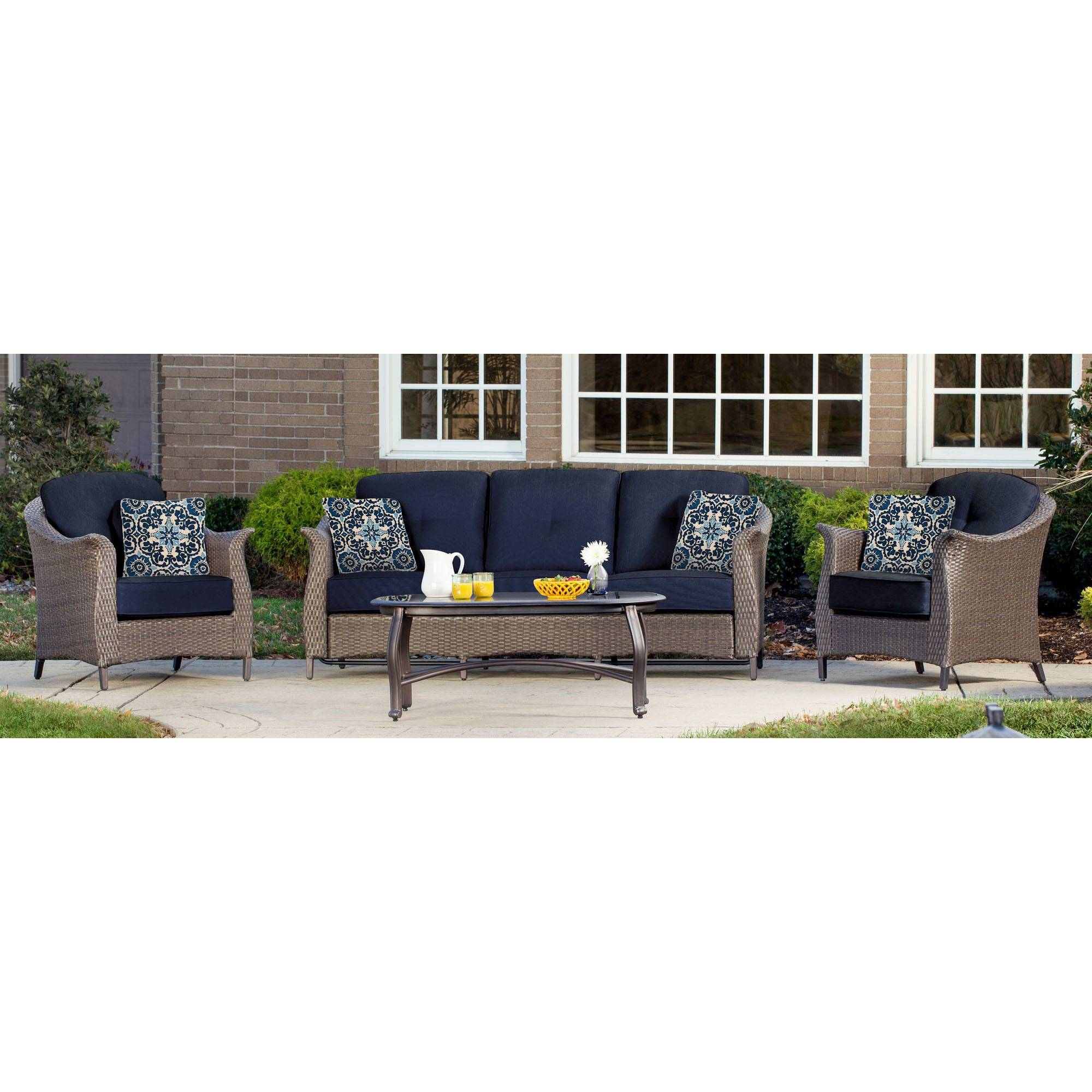 Inspirational Mainstays Ragan Meadow II Piece Outdoor Sectional Sofa Seats Walmart