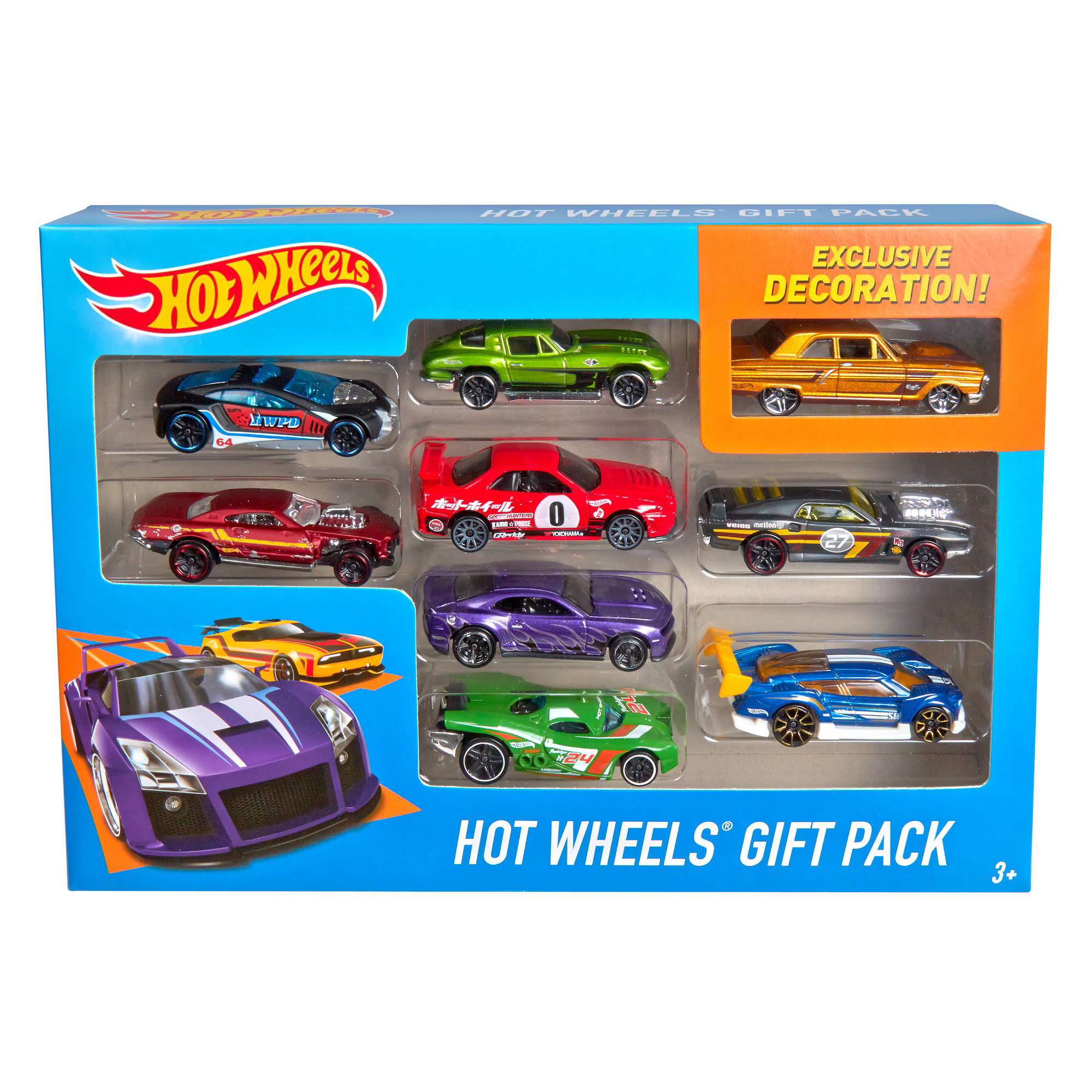 Hot Wheels 9-Car Gift Pack (Styles May Vary) by Mattel