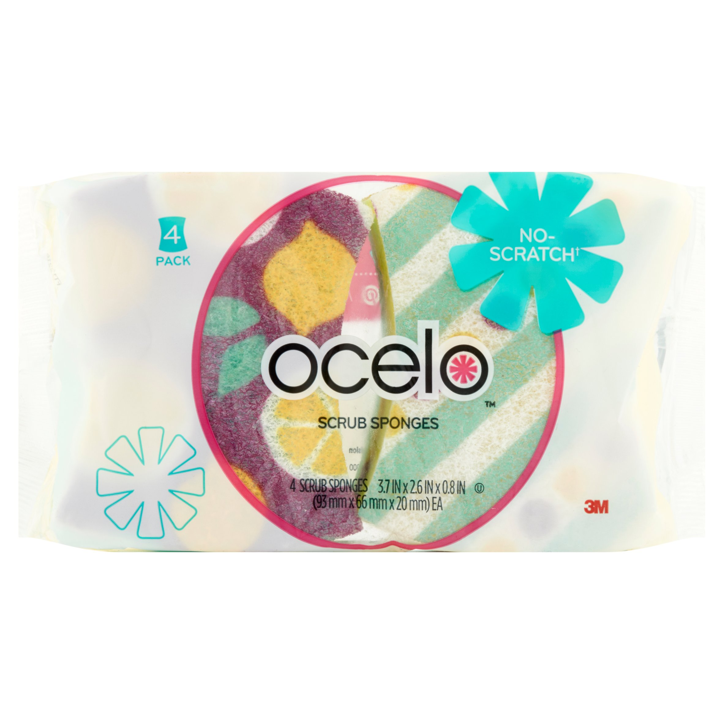 Ocelo™ No Scratch Scrub Sponges, 4 ct