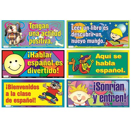 Poster Pals PSZSN7 18 x 8 in. Spanish Variety Poster Set - Posters In Spanish