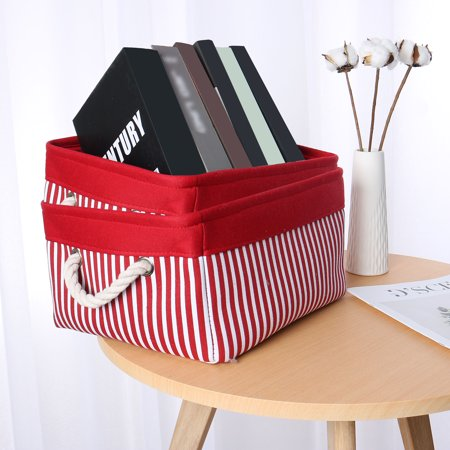 Collapsible Fabric Storage Baskets Bins Pet Toys Organizers Red 2 Packs