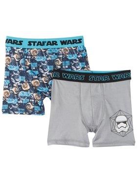 Star Wars Big Boys Underwear, 2 Pack Boxer Briefs (Little Boys & Big Boys)
